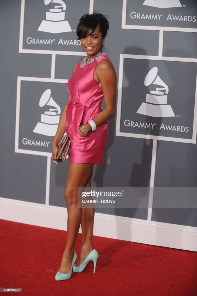 Singer LeToya Luckett arrives at the 51st Annual Grammy Awards, at the Staples Center in Los Angeles, on February 8, 2009. AFP PHOTO GABRIEL BOUYS