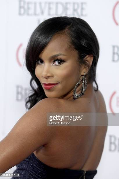 Singer LeToya Luckett arrives at the RED launches with Usher on February 10 2011 in Hollywood California