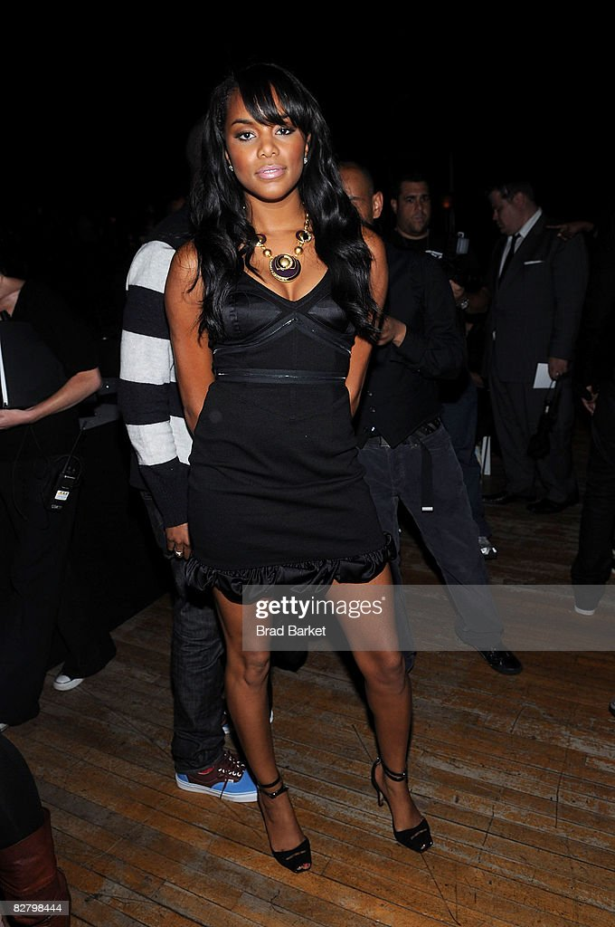 Singer LeToya Luckett attends the Baby Phat Spring 2009 fashion show during Mercedes-Benz Fashion Week at Roseland Ballroom on September 12, 2008 in New York City.