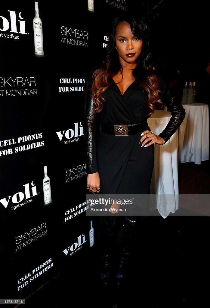 Singer LeToya Luckett attends Voli Light Vodka's Holiday Party hosted by Fergie Benefiting Cellphones for Soldiers at SkyBar at the Mondrian Los Angeles on December 6, 2012 in West Hollywood, California.