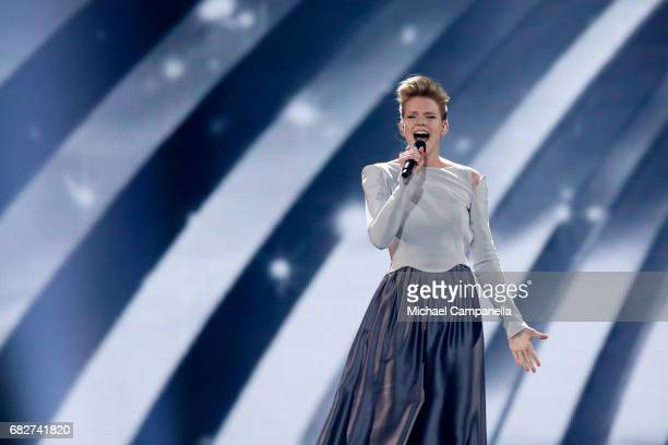 Singer Levina representing Germany performs the song 'Perfect Life' during the final of the 62nd Eurovision Song Contest at International Exhibition...