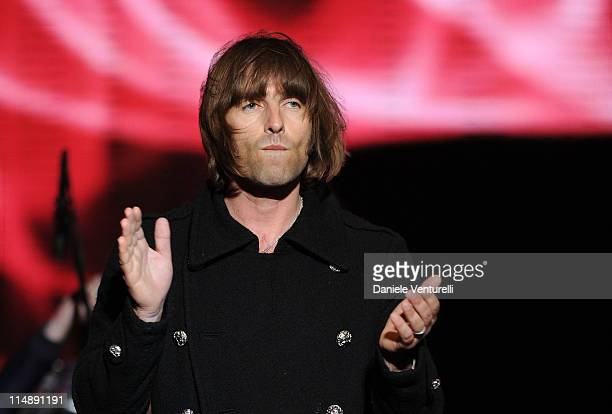 Singer Liam Gallagher of Beady Eye performs on the Wind Music Awards Show at the Arena of Verona on May 27 2011 in Verona Italy