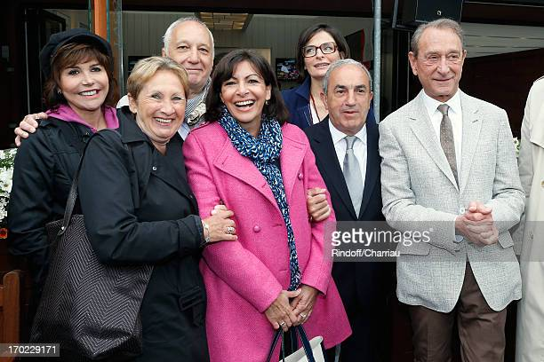 Singer Liane Foly Annie Schneider actor Francois Berleand Anne Hidalgo guest President of FFT Jean Gachassin and Paris Mayor Bertrand Delanoe attend...