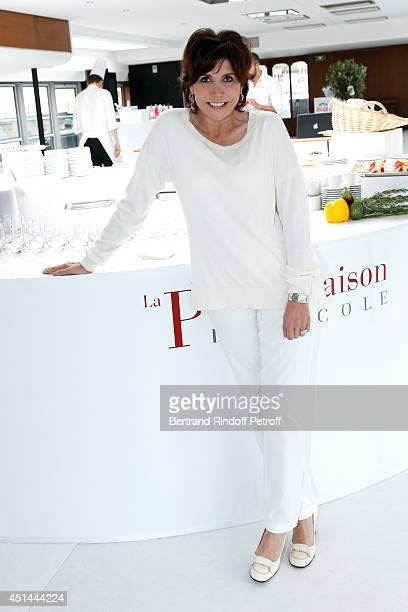 Singer Liane Foly attends the 'Brunch Blanc' hosted by Barriere Group on June 29 2014 in Paris France