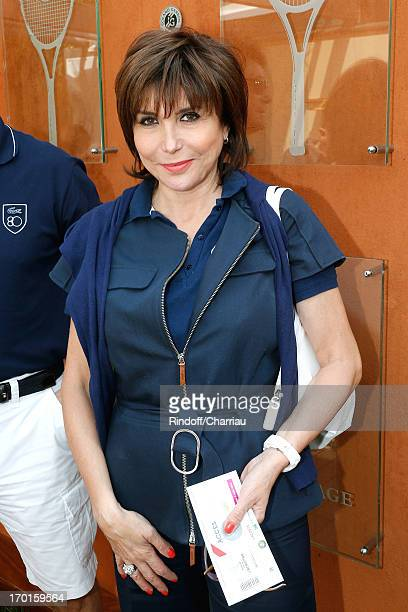 Singer Liane Foly sighting at Roland Garros Tennis French Open 2013 Day 14 on June 8 2013 in Paris France