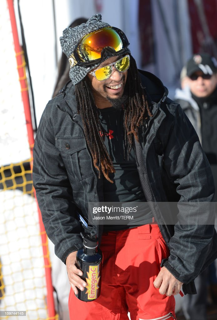 Singer Lil Jon snowboards at the Oakley Learn To Ride In Collaboration With New Era on January 19, 2013 in Park City, Utah.