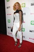 Singer Lil' Mama attends America's Next Top Model Cycle 21 premiere party presented by NYLON and LINE at SupperClub Los Angeles on August 20 2014 in...