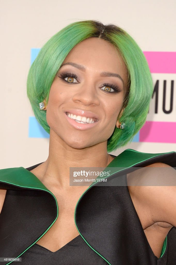 Singer Lil Mama attends the 2013 American Music Awards at Nokia Theatre LA Live on November 24 2013 in Los Angeles California