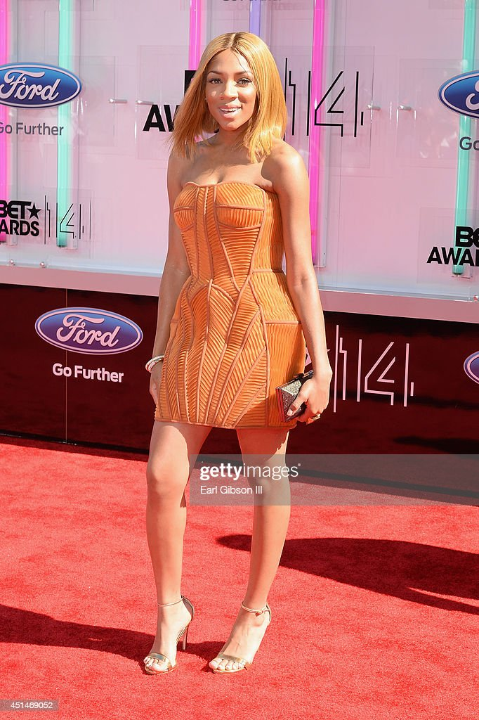 Singer Lil Mama attends the BET AWARDS '14 at Nokia Theatre LA LIVE on June 29 2014 in Los Angeles California