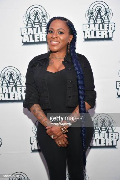 Singer Lil Mo attends Baller Alert's Bowl With a Baller at Basement Bowl on October 5 2017 in Miami Florida