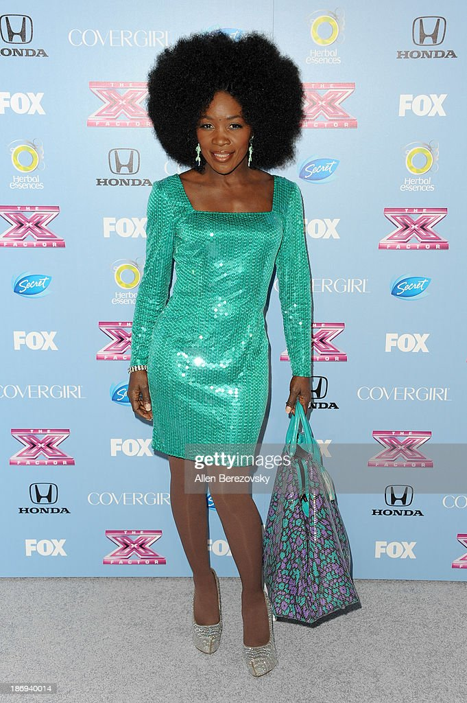 Singer Lillie McCloud arrives at 'The X Factor' Finalists Party at SLS Hotel on November 4, 2013 in Los Angeles, California.