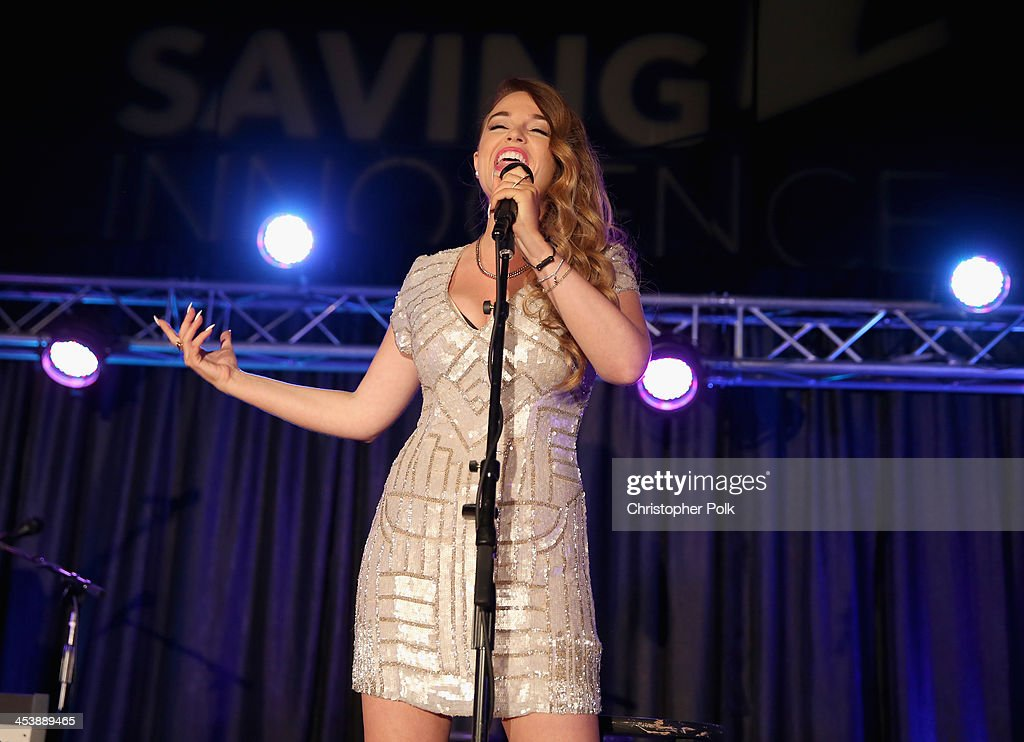 Singer Lilly Elise performs onstage during the 2nd Annual Saving Innocence Gala at The Crossing on December 5, 2013 in Los Angeles, California.