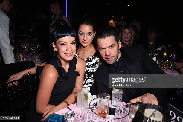 Singer Lily Allen and designer Roland Mouret attend the party at the Elle Style Awards 2014 at one Embankment on February 18 2014 in London England