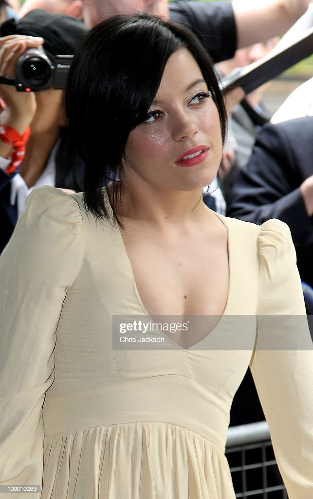 Singer Lily Allen arrives at the Ivor Novello Awards at Grosvenor House, on May 20, 2010 in London, England.