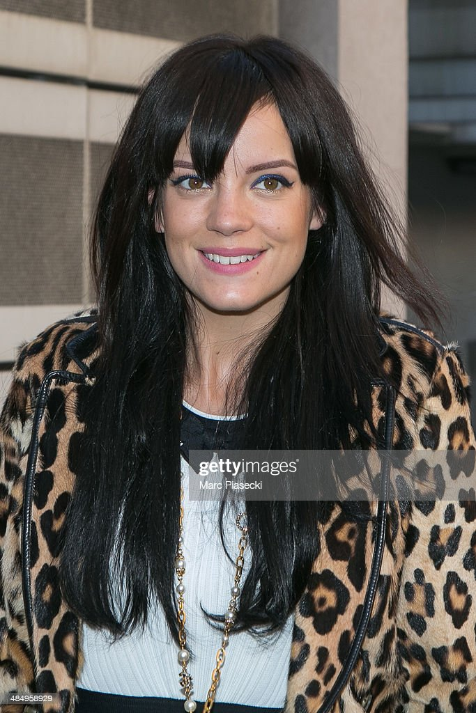 Singer <a gi-track='captionPersonalityLinkClicked' href=/galleries/search?phrase=Lily+Allen&family=editorial&specificpeople=724899 ng-click='$event.stopPropagation()'>Lily Allen</a> arrives at the 'NRJ' radio station on April 15, 2014 in Paris, France.