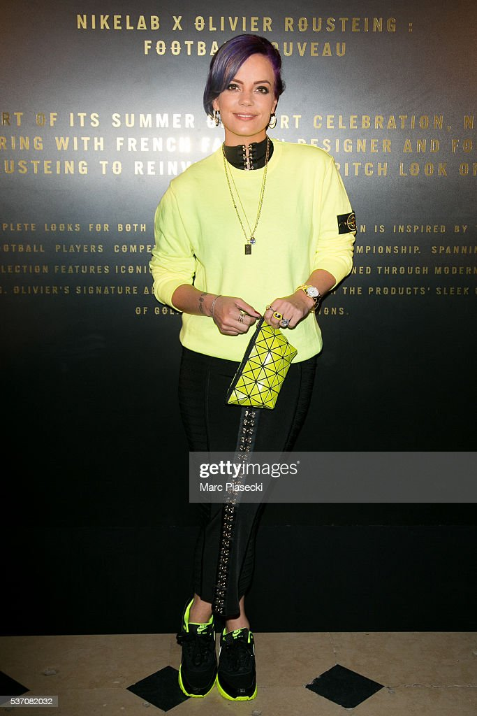 Singer Lily Allen attends NikeLab X Olivier Rousteing Football Nouveau Collection Launch Party at Cite Universitaire on June 1, 2016 in Paris, France.