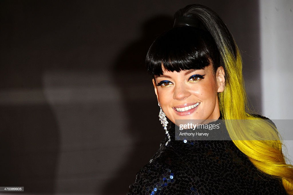 Singer Lily Allen attends The BRIT Awards 2014 at 02 Arena on February 19, 2014 in London, England.