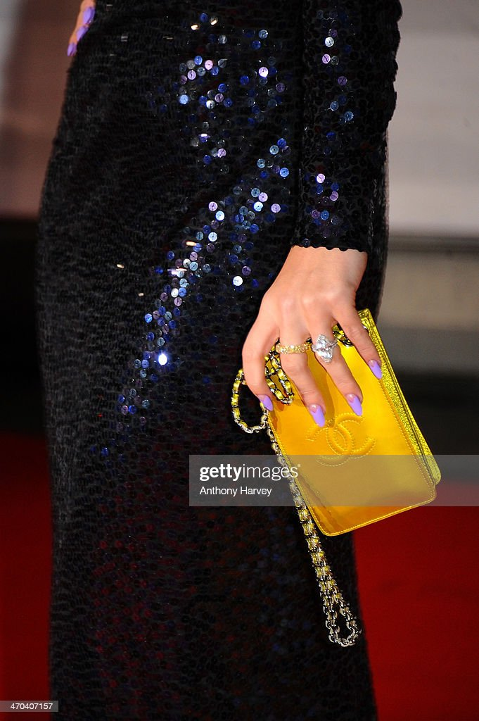 Singer Lily Allen attends (detail) The BRIT Awards 2014 at 02 Arena on February 19, 2014 in London, England.