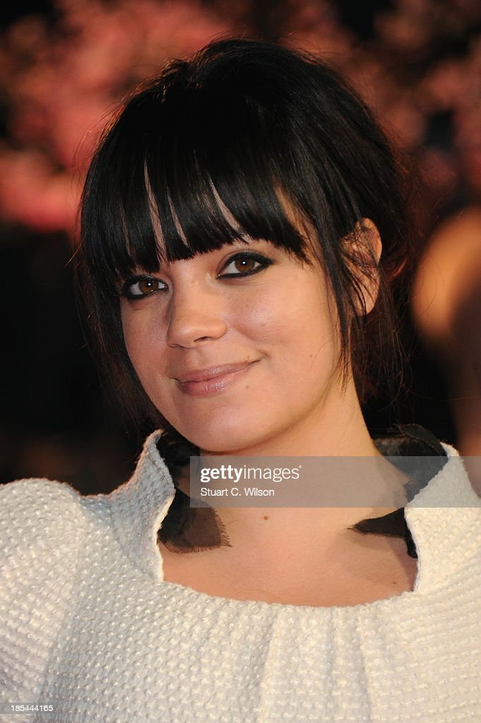 Singer Lily Allen attends the Closing Night Gala European Premiere of 'Saving Mr Banks' during the 57th BFI London Film Festival at Odeon Leicester Square on October 20, 2013 in London, England.