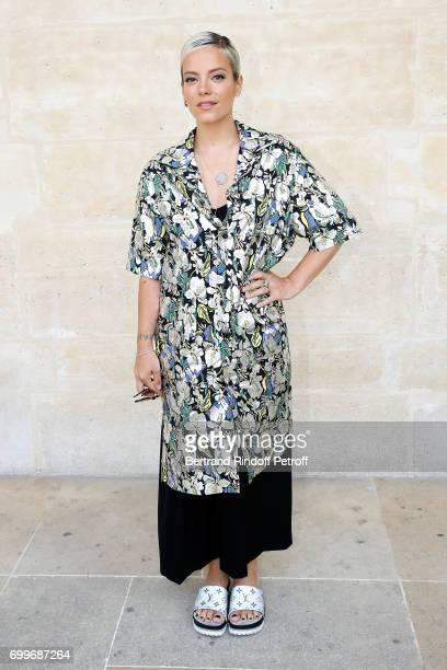 Singer Lily Allen attends the Louis Vuitton Menswear Spring/Summer 2018 show as part of Paris Fashion Week on June 22 2017 in Paris France
