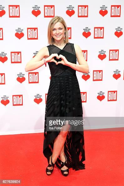 Singer Linda Hesse attends the Ein Herz Fuer Kinder gala on December 3 2016 in Berlin Germany