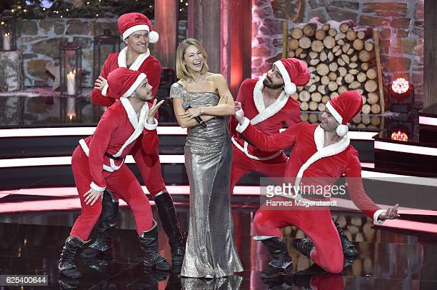 Singer Linda Hesse during the tv show 'Heiligabend mit Carmen Nebel' on November 23 2016 in Munich Germany The show will be aired on December 24 2016