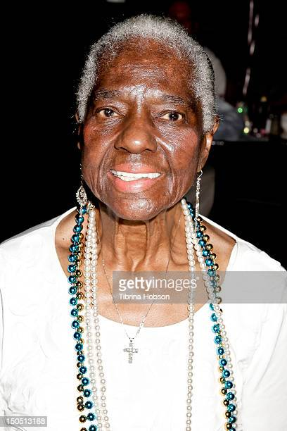 Singer Linda Hopkins attends the Sledge Grits Band fundraiser and release party at The Joint on August 19 2012 in Los Angeles California