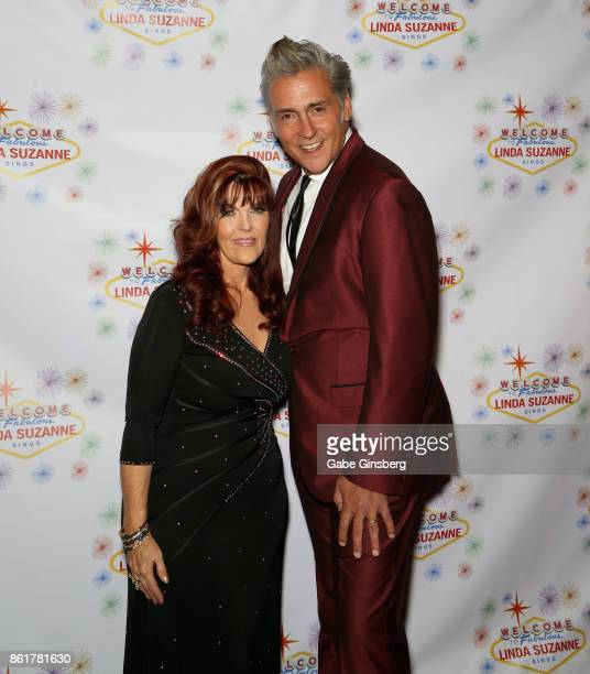 Singer Linda Suzanne and radio announcer Jon Lindquist attend the debut of Suzanne's show 'Linda Suzanne Sings Divas of Pop' at the South Point Hotel...