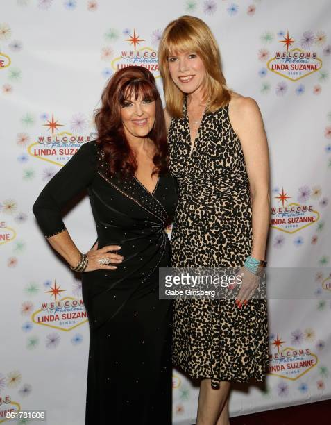 Singer Linda Suzanne and television personality Stacey Gualandi attend the debut of Suzanne's show 'Linda Suzanne Sings Divas of Pop' at the South...