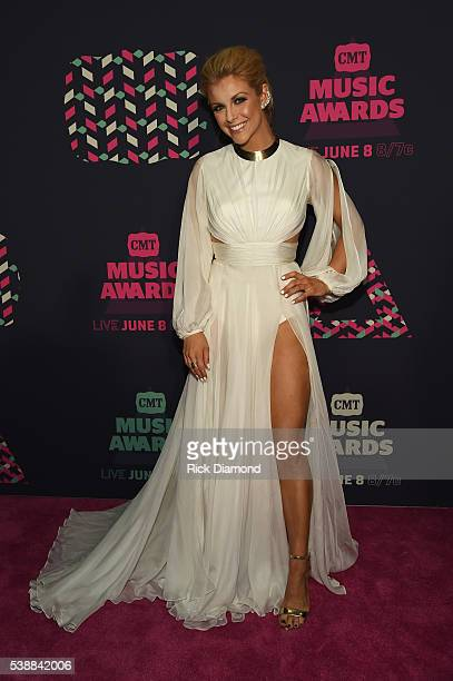 Singer Lindsay Ell attends the 2016 CMT Music awards at the Bridgestone Arena on June 8 2016 in Nashville Tennessee