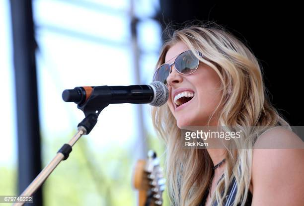 Singer Lindsay Ell performs live during the 2017 Daytime Village at the iHeartCountry Festival A Music Experience by ATT at The Frank Erwin Center on...