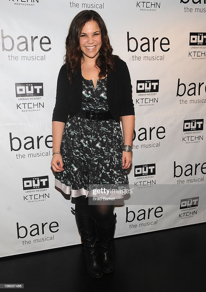 Singer Lindsay Mendez attends 'BARE The Musical' Opening Night at New World Stages on December 9, 2012 in New York City.