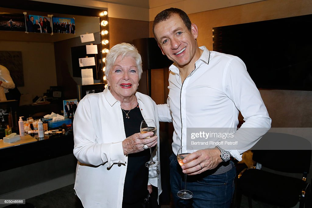 Singer Line Renaud and humorist Dany Boon pose Backstage after the 'Dany De Boon Des Hauts-De-France' Show at L'Olympia on November 19, 2016 in Paris, France.