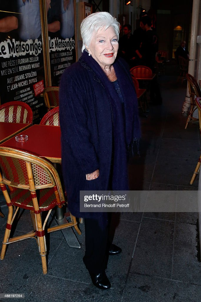 Singer Line Renaud attends 'Le Mensonge' Theater Play Held at Theatre Edouard VII on September 14 2015 in Paris France