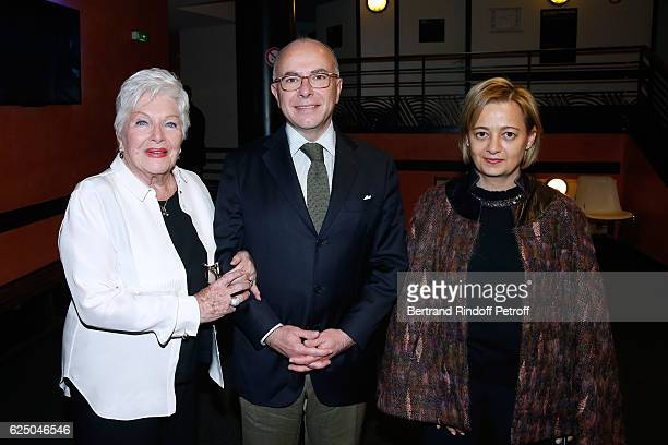 Singer Line Renaud Interior Minister of France Bernard Cazeneuve and his wife Veronique pose Backstage after his 'Dany De Boon Des HautsDeFrance'...