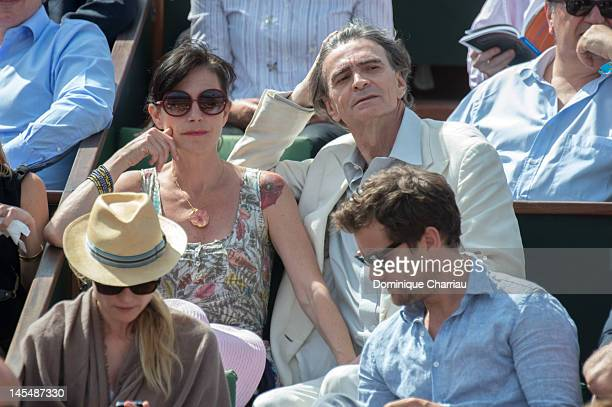 Singer Lio and her boyfriend at the French Open at Roland Garros on May 31 2012 in Paris France