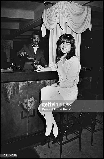 Singer Lio attends a party at the 'Moulin Rouge' cabaret in Paris in 1981