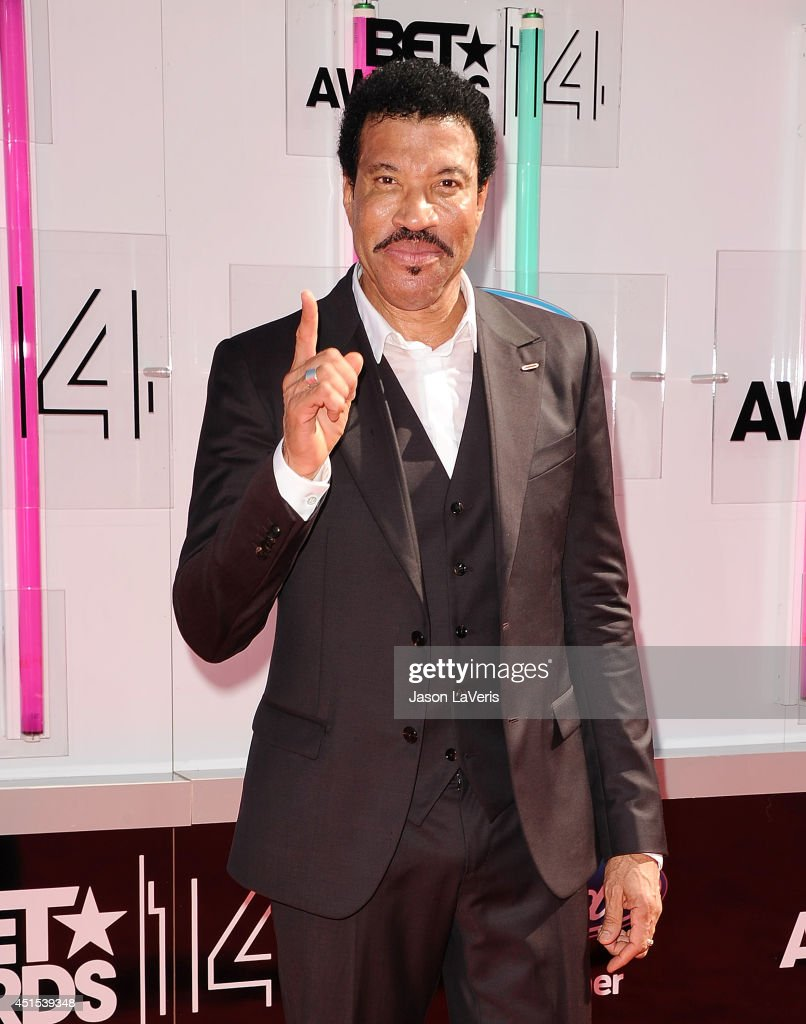 Singer <a gi-track='captionPersonalityLinkClicked' href=/galleries/search?phrase=Lionel+Richie&family=editorial&specificpeople=204139 ng-click='$event.stopPropagation()'>Lionel Richie</a> attends the 2014 BET Awards at Nokia Plaza L.A. LIVE on June 29, 2014 in Los Angeles, California.