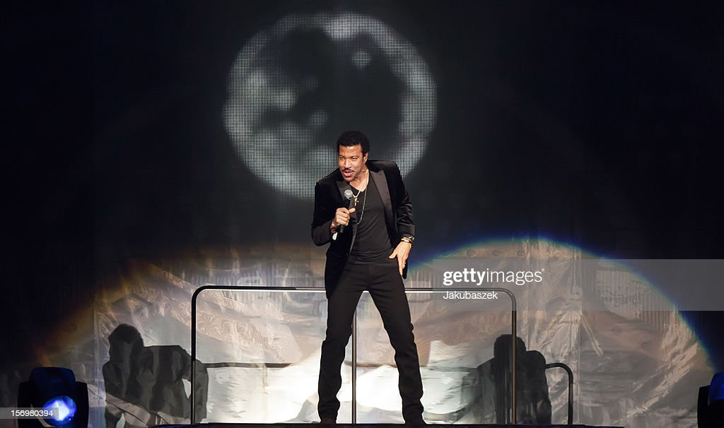 Singer <a gi-track='captionPersonalityLinkClicked' href=/galleries/search?phrase=Lionel+Richie&family=editorial&specificpeople=204139 ng-click='$event.stopPropagation()'>Lionel Richie</a> performs live during a concert at the O2 World on November 26, 2012 in Berlin, Germany.
