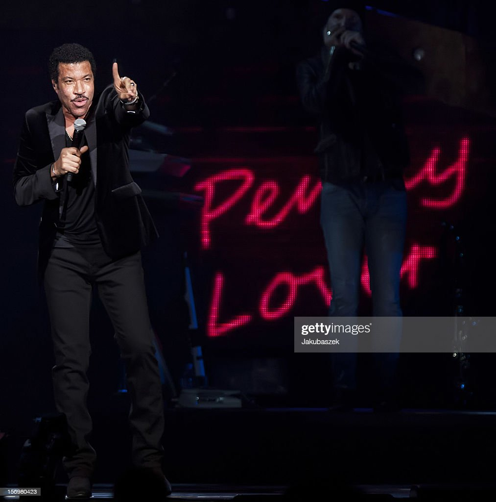 Singer Lionel Richie performs live during a concert at the O2 World on November 26, 2012 in Berlin, Germany.
