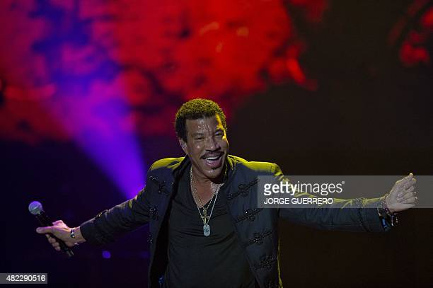 US singer Lionel Richie performs on stage during a concert at the Starlite in Marbella on July 29 2015 AFP PHOTO/ JORGE GUERRERO