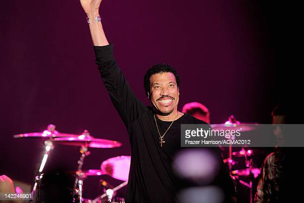 Singer Lionel Richie performs onstage during Dr Pepper Private Performance Featuring Blake Shelton at the MGM Grand Hotel/Casino on March 31 2012 in...