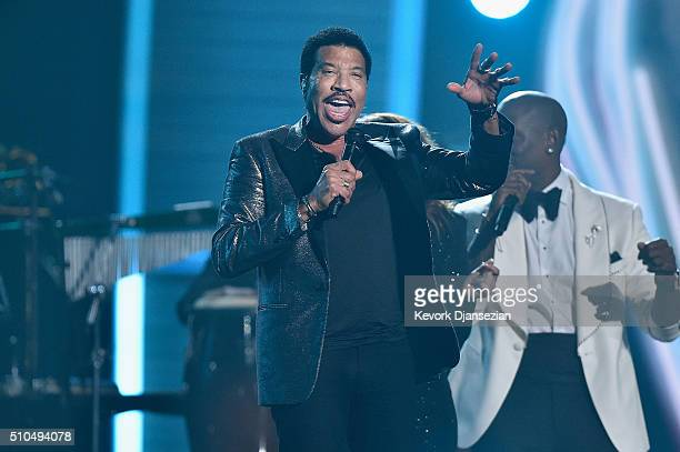 Singer Lionel Richie performs onstage during The 58th GRAMMY Awards at Staples Center on February 15 2016 in Los Angeles California