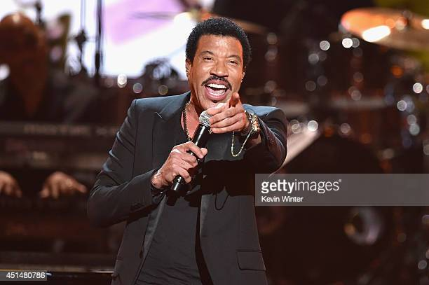 Singer Lionel Richie performs onstage during the BET AWARDS '14 at Nokia Theatre LA LIVE on June 29 2014 in Los Angeles California