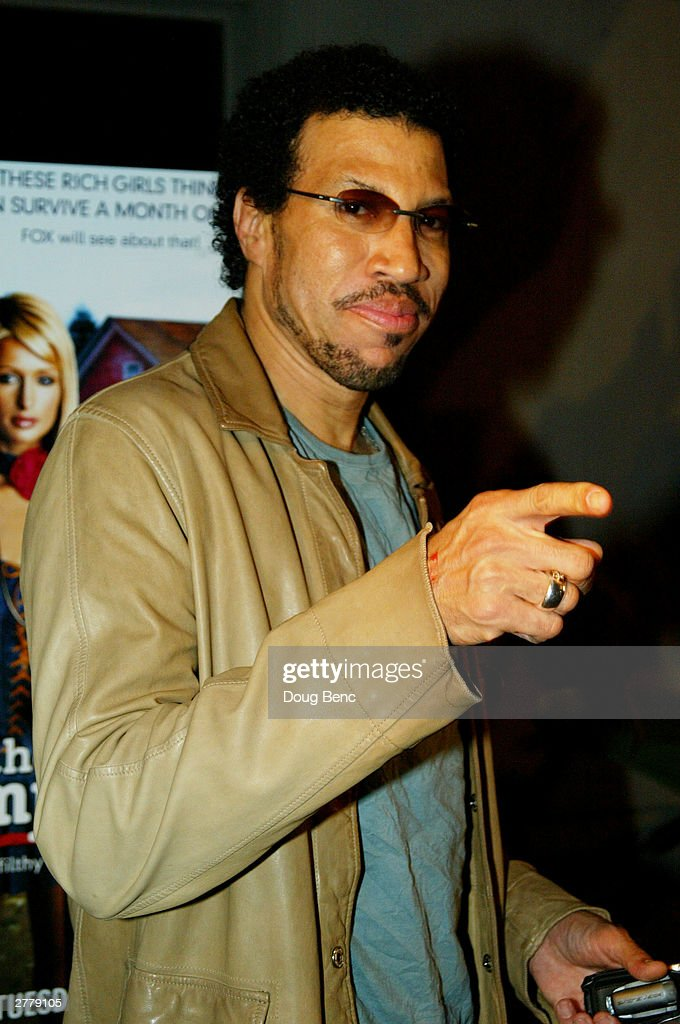 Singer Lionel Ritchie arrives for the premier party for 'The Simple Life' on December 2, 2003 at Bliss in Los Angeles, California.