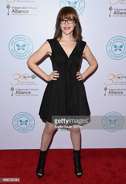 Singer Lisa Loeb arrives at The Independent School Alliance For Minority Affairs Impact Awards Dinner at Four Seasons Hotel Los Angeles at Beverly...