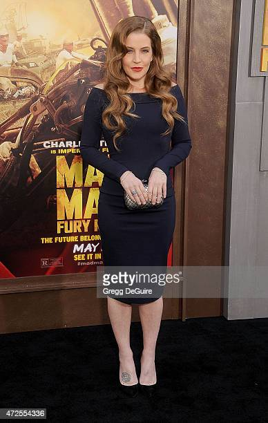 Singer Lisa Marie Presley arrives at the Los Angeles premiere of 'Mad Max Fury Road' at TCL Chinese Theatre IMAX on May 7 2015 in Hollywood California