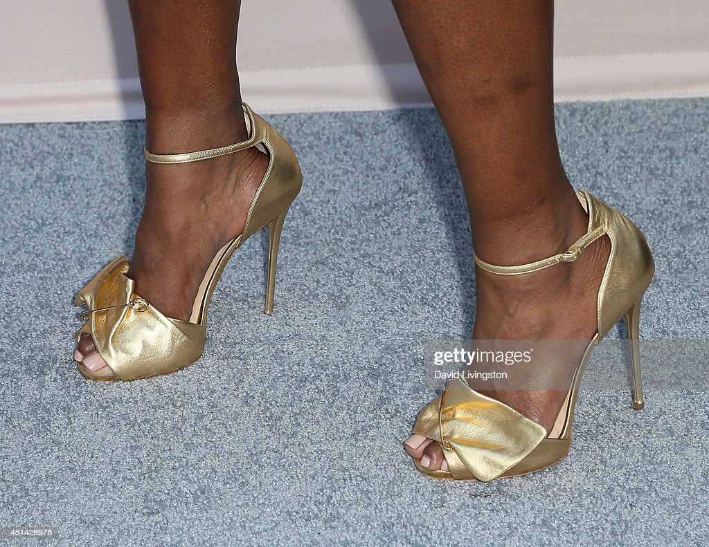 Singer Liv Warfield (shoe detail) attends the 'PRE' BET Awards Dinner hosted by BET Networks' Chairman and CEO Debra L. Lee at Milk Studios on June 28, 2014 in Hollywood, California.
