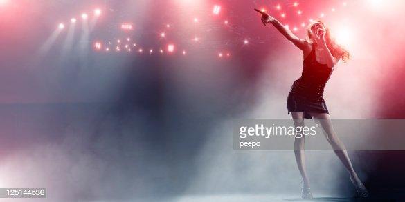 Singer Live on Stage