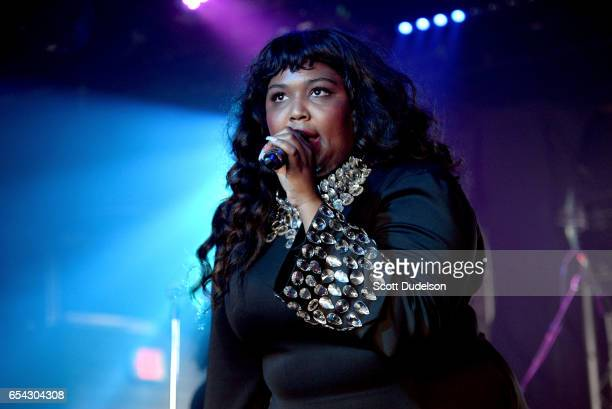 Singer Lizzo performs onstage at the Mazda Studio at Empire Garage on March 16 2017 in Austin Texas